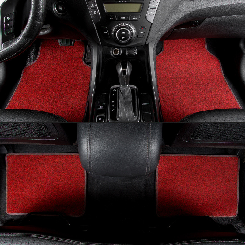 kalaisike universal car floor mats for Infiniti all models FX EX JX G M QX50 QX56 QX80 QX50 QX60 Q50 Q60 QX70 Q70L car styling hand sewn leather cowhide steering wheel diy sticker cover for infiniti q50 qx50 ex35 jx qx60 q60 q70 g ex interior accessories