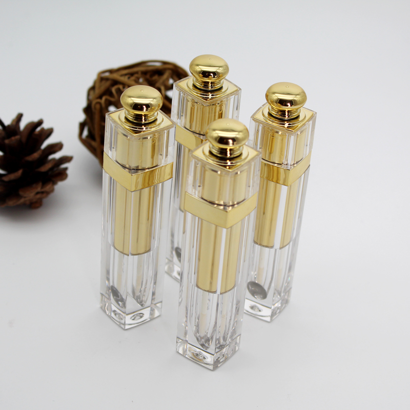10/20/30pcs Empty 4.5ml Transparent Cosmetic Lip gloss tube with gold cover Empty DIY Makeup Lip Glaze/balm Pipe Shell Bottles australian gold spf 30 lip balm 4 2 гр