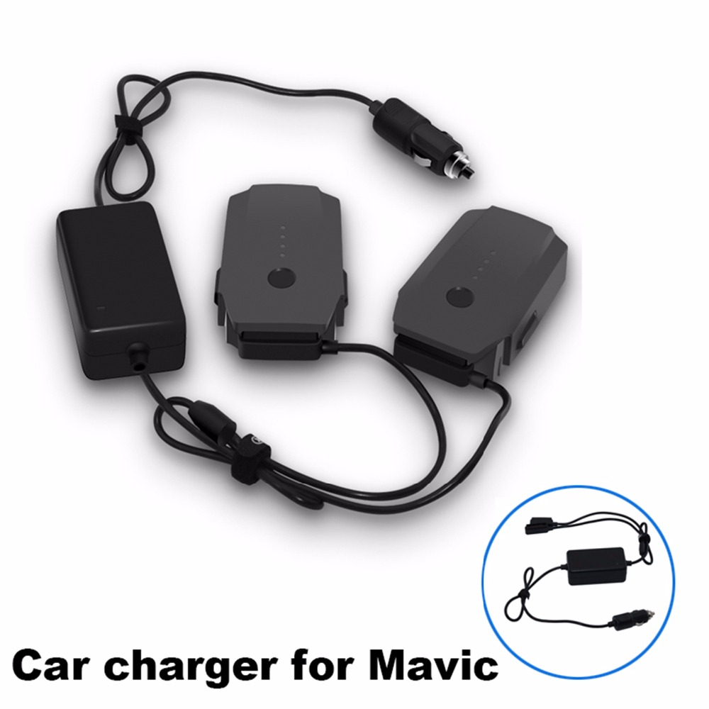 2 In 1 Car Charger for DJI Mavic Pro Platinum Camera Drone Battery Portable Smart Travel Vehicle Charger Dual Output Charging