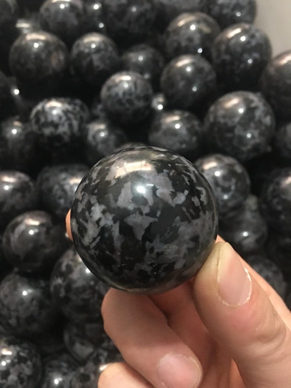 40mm Natural Polished Stone Sphere Semi Gabbro Ball