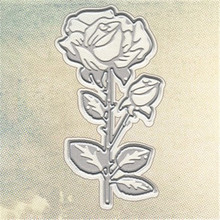 YaMinSanNiO Rose Flower Dies Metal Cutting Embossing Stencil DIY Scrapbooking New Crafts Card Die Template