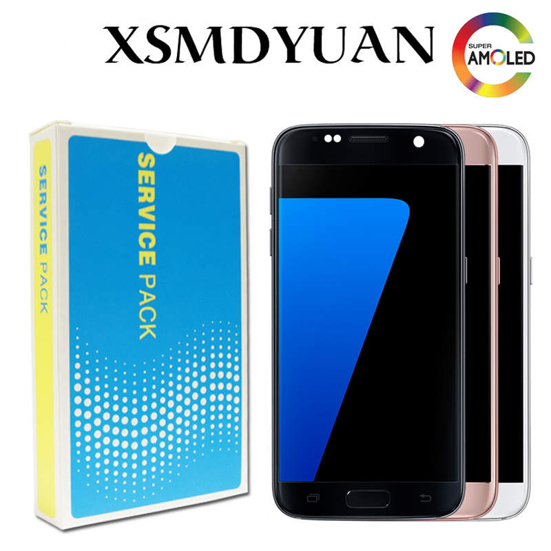 Mobile Phone Lcds Nice Original 5.5 Amoled Display With Burn Shadow Ghost Image For Samsung S7 Edge Pantalla G935 G935f Lcd With Frame Touch Screen Latest Technology