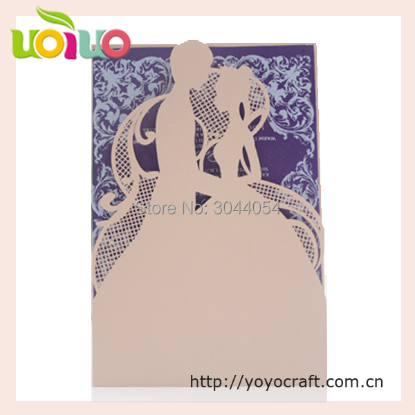 Us 32 5 50pcs Fashion Bride Groom Engagement Invitation Cards Wedding Laser Cut Luxury Laser Cut 3d Handmade Wedding Cards Sample In Cards