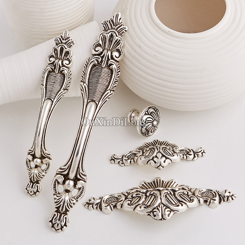 Top Designed 10PCS Furniture Handles European Antique Drawer Dresser Wardrobe Cupboard Cabinet Kitchen Pulls Handles and Knobs furniture handles wardrobe door pulls dresser drawer handles kitchen cupboard handle cabinet knobs and handles 64mm 96mm 128mm