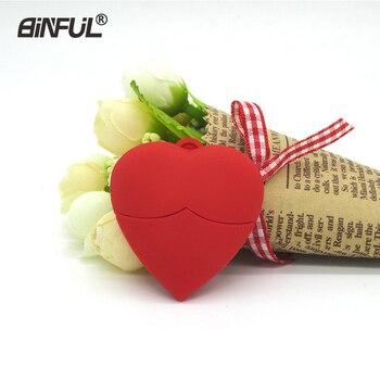Memoria USB en forma de corazón, memoria USB de pecho rojo, pendrive de 32GB, 16GB, 8GB, 4GB, 64GB, memoria USB, memoria flash drive para regalo de chica de amor