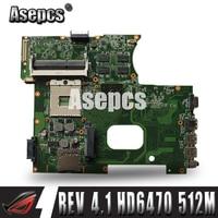 Asepcs k42jz computador portátil placa-mãe ddr3 para For Asus a40j k42jb k42jy x42j k42je portátil mainboa 100% testado intacto rev: 4.1 hd6470 512 m