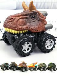6 шт. 6 стилей высококачественный детский подарок на день игрушечный динозавр модель Маленькая игрушечная машинка задняя часть автомобиля