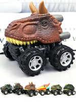 6 pièces 6 styles haute qualité enfants jour cadeau jouet dinosaure modèle Mini jouet voiture arrière de la voiture cadeau camion passe-temps