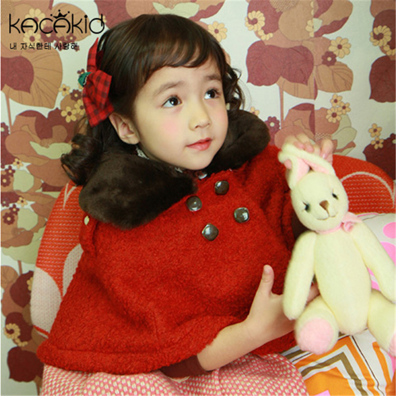 2016 Baby Coat Babe Cloak Outwear Red Baby Poncho Cape Infant Baby Coat Children s Clothing