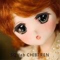 Sd куклы bjd 6 очков кукла КВ Лаборатории Chibi рен 1/6 мо Tsubaki мультфильм лицо подарок на день рождения, чтобы отправить ресницы ресницы