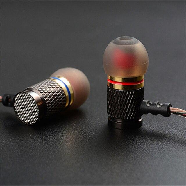 KZ-ED2 Professional In-Ear Écouteurs En Métal Basse Lourde Qualité Sonore de Musique Écouteurs Chine Haut de Gamme Marque Casque fone de ouvido