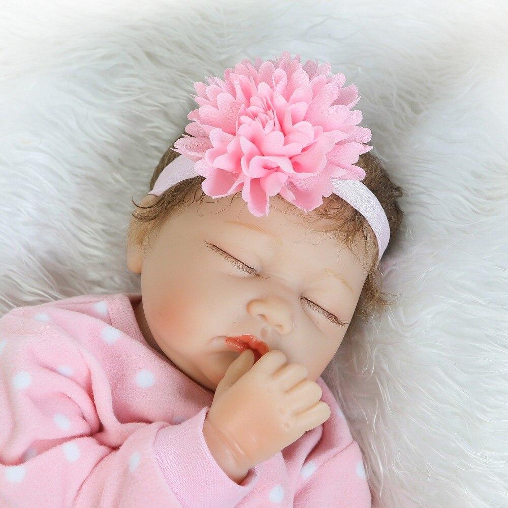 NPK 55cm Silicone Sleeping Reborn Baby Dolls Fashion Baby Dolls For Girls Education Toys Real Baby Lifelike Bebe Reborn Dolls kawaii baby dolls