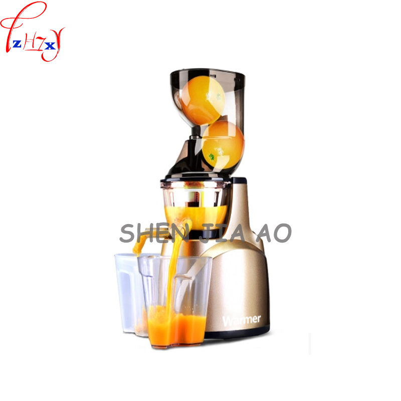 Home large caliber slow juicer automatic multi - functional juice machine soybean milk juice machine  110/220V 1PC rbm 767a 2200w home automatic multi functional fruit and vegetable ice sand bean milk mixer fried fruit juice broken machine 2l