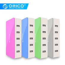 Orico 5 Port Desktop Charger Ponsel Travel Charger Usb Cepat Smart Charger untuk Smartphone Samsung Iphone Tablet(China)