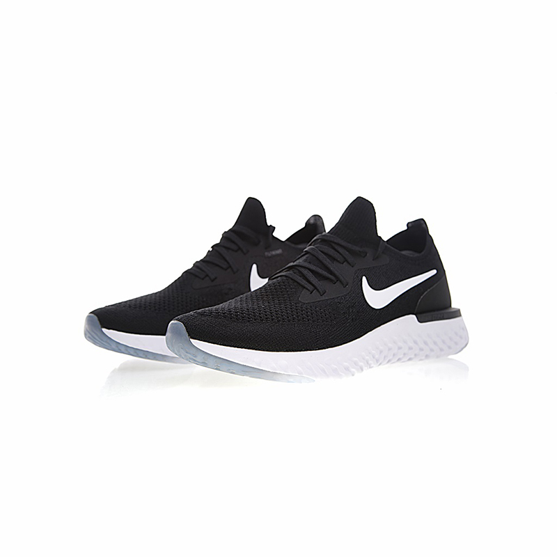 Nike Epic React Flyknit Women Running Shoes Black White Sneakers Sport  Outdoor Breathable AQ0070 600-in Running Shoes from Sports   Entertainment  on ... 1b2f6c7e89df