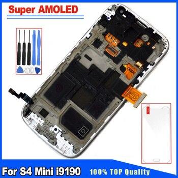 eb4804d9731 Prueba 100% para Samsung Galaxy S4 Mini i9190 i9195 Super AMOLED pantalla  LCD de pantalla táctil con el marco de asamblea completo de