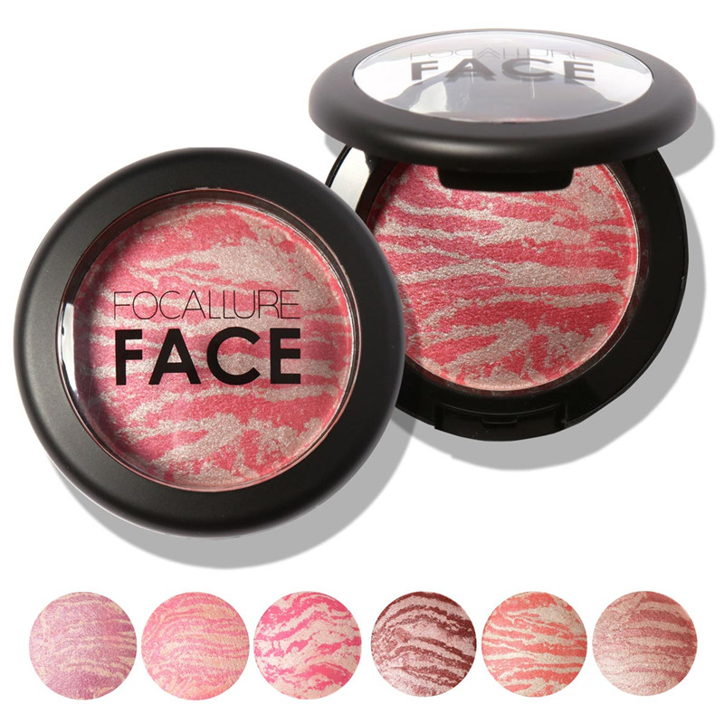 Top Quality Professional Cheek 6 Colors Makeup Baked Blush Bronzer Blusher Long Lasting Cosmetic
