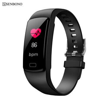 Rastreador inteligente de actividad SENBONO Y9, pulsera de corazón con Monitor de presión arterial, pulseras para Smartphone Smartband pk Y5