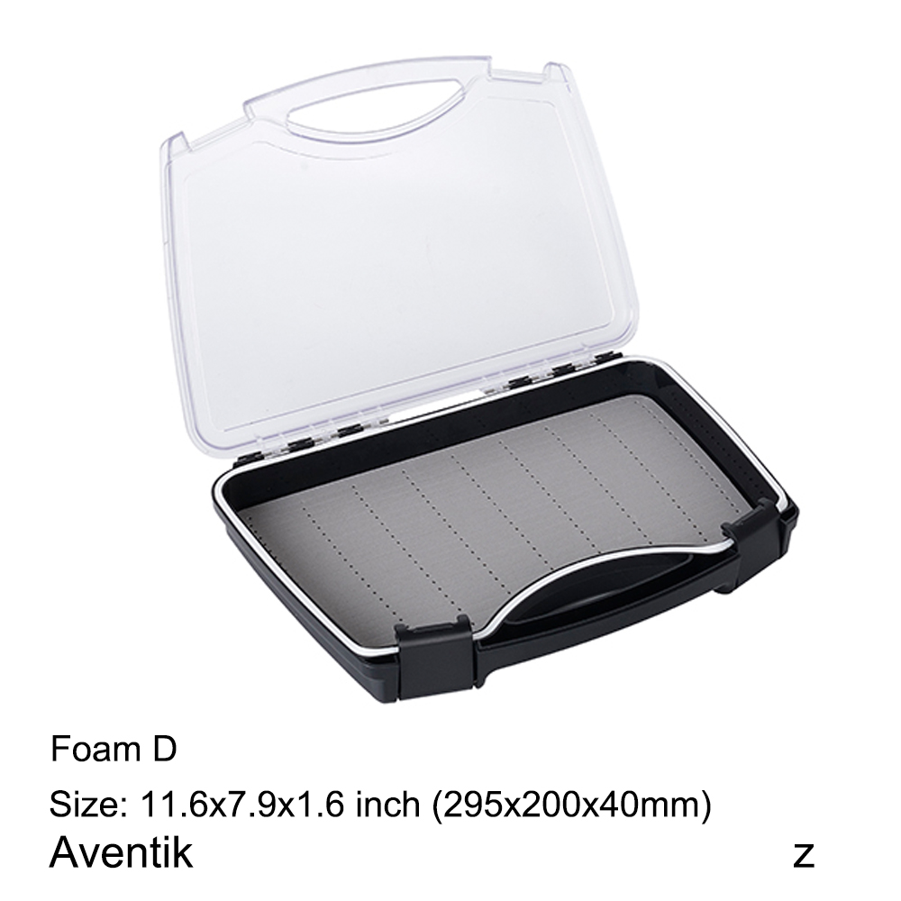 Aventik Plastic Waterproof Fly Fishing ABS Clear Slit Foam fly Fishing Box 11.6 X 7.9 X 1.6 inch Big Flies Box коробка для мушек snowbee slit foam compartment waterproof fly box x large