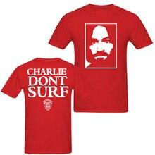 Charles Manson Charlie nie surfować jak noszone Axl Rose 90s t shirt w stylu vintage mężczyźni i kobiety Tee duże rozmiary S XXXL