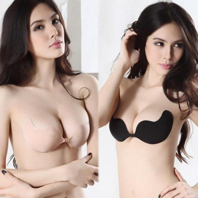 81edf3c68ab Women Bras Self-Adhesive Silicone Bust Front Closure Strapless Bra A B C Cup