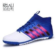 POLALI – chaussures de Football pour hommes, TF Futsal Hard Court, bottes de Football d'intérieur, chaussettes d'entraînement bon marché, Botas Chuteira Futsal
