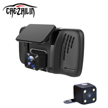 "Car DVR Camera 4.0"" Mini Dual Lens with Rear view Camera Full HD 1080P Video recoder Camcorder Car dvrs dashcam(China)"