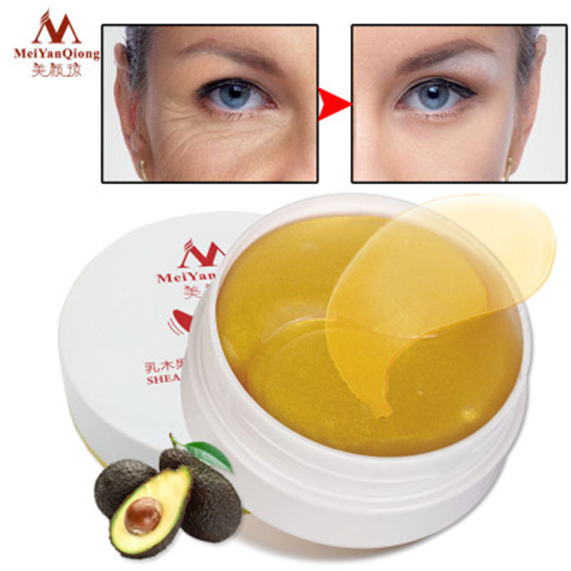MeiYanQiong Shea Butter Moisturizing Firming Gold Collagen Eye Mask Anti Wrinkle Remove Eye Pouch Fine Lines Fading Dark Circle in Creams from Beauty Health