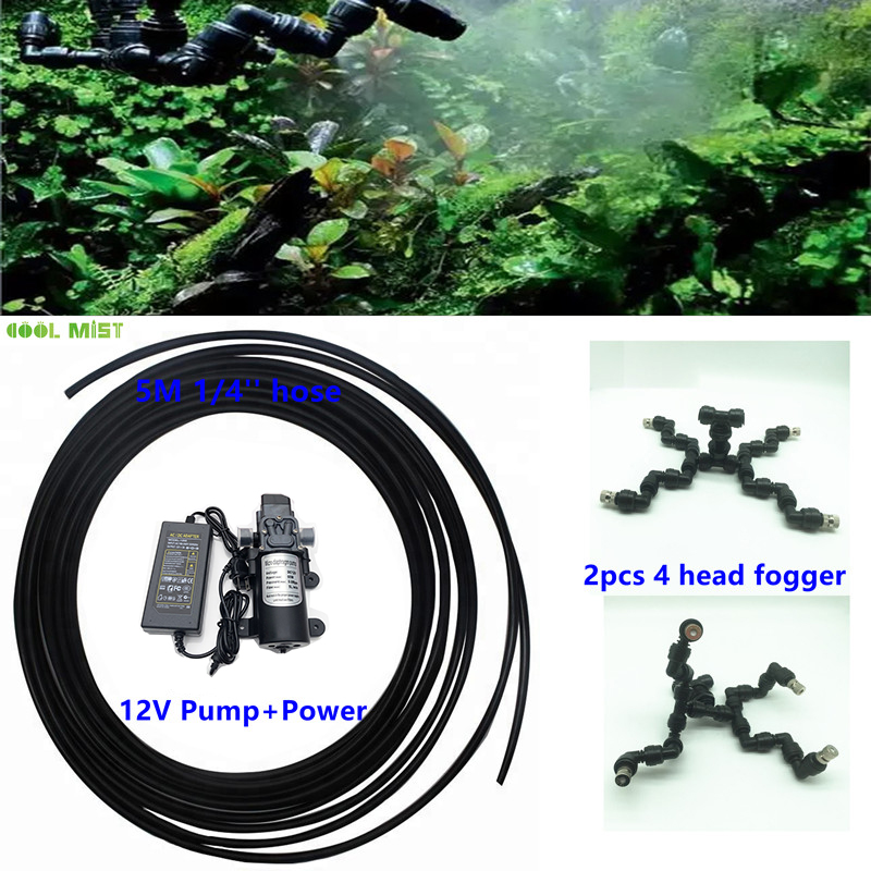 S046 Total 10pcs Slip Lock Nozzles Mister Rainfall Atomization System For Moss Climbing Pet Reptile Fogger Set