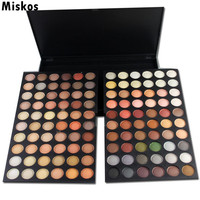Miskos Pro 120 Full Color Eyeshadow Palette Eye Shadow Makeup 4 Warm Cosmetics Contain Matte And