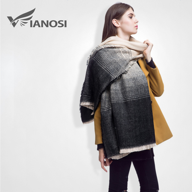 [VIANOSI] Winter Scarf Women Shawl Brand Foulard Luxury Cashmere Female Thicken Ladies VS003
