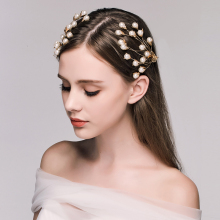 New 2Pcs Vintage Wedding Hair Jewelry Brides Headdress Barretes Hairpins Simulated Pearl Women Bridal Princess Hair Accessories