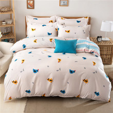 Cute Bird Pattern Duvet Cover 3/4 pcs Bedding Set Lover Child Kids Child Soft Cotton Bed Linen Single Full Queen King Size Sheet(China)