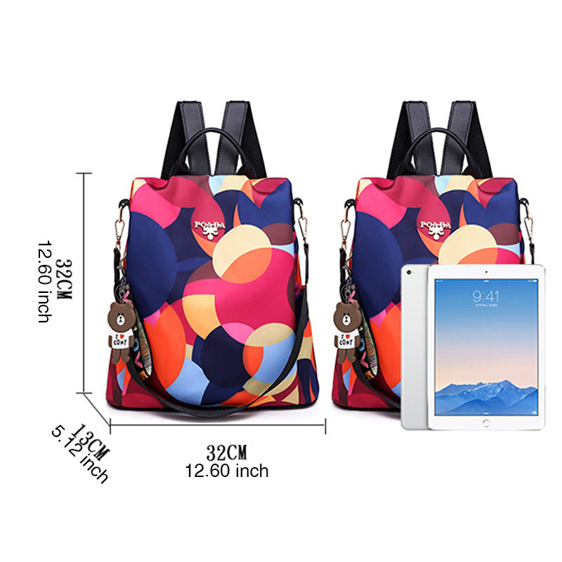 Brand Fashion Waterproof Oxford Women Anti-theft Backpack  1