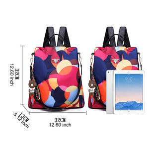 Image 2 - DIZHIGE Brand Fashion Waterproof Oxford Women Anti theft Backpack High Quality School Bag For Women Multifunctional Travel Bags