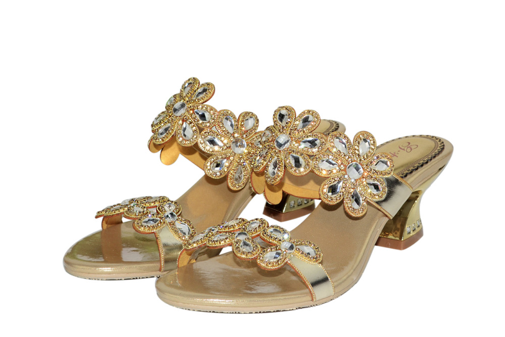 ФОТО Cheap Real Photo Rhinestone Sandals Ladies Slides Womens Sandals Summer 2016 Slippers Size Famous Designer Sandals For Women