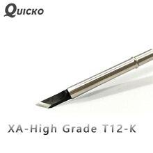 QUICKO XA High-grade T12-K löten Spitze für 951 952 verwenden für HAKKO T12 löten station 7 s schmelzen zinn schweißen werkzeuge