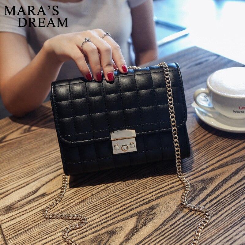Maras Dream Fashion Leather Small Women Crossbody Bags Small Chain Strap Women Bag Messenger Shoulder Sling Purse Lady Handbag