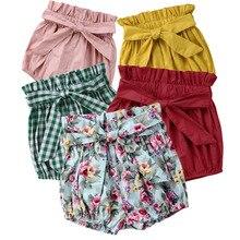 Новые детские штаны для маленьких девочек шорты-шаровары штаны с бантом