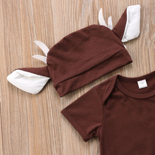 Baby Clothes Cartoon Deer Xmas Costume