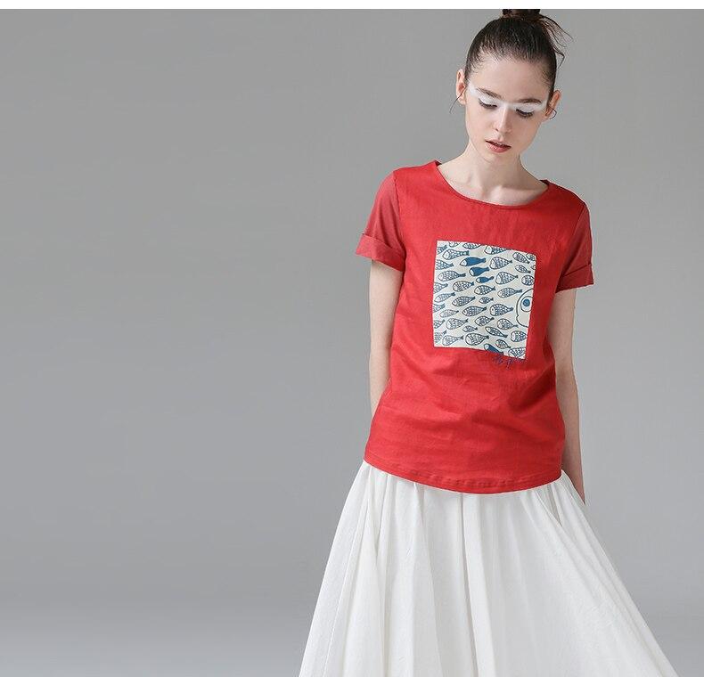 HTB10tuZPXXXXXbGXXXXq6xXFXXXw - t shirt femme 2017 Summer Fish Tees Tops O-Neck