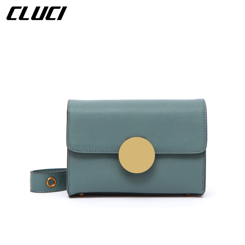 CLUCI Brand Women Small Shoulder Crossbody Bag Hight Quality Split Leather Evening Clutch Bags Messenger Bags Sac female A Main 2017 fashion all match retro split leather women bag top grade small shoulder bags multilayer mini chain women messenger bags