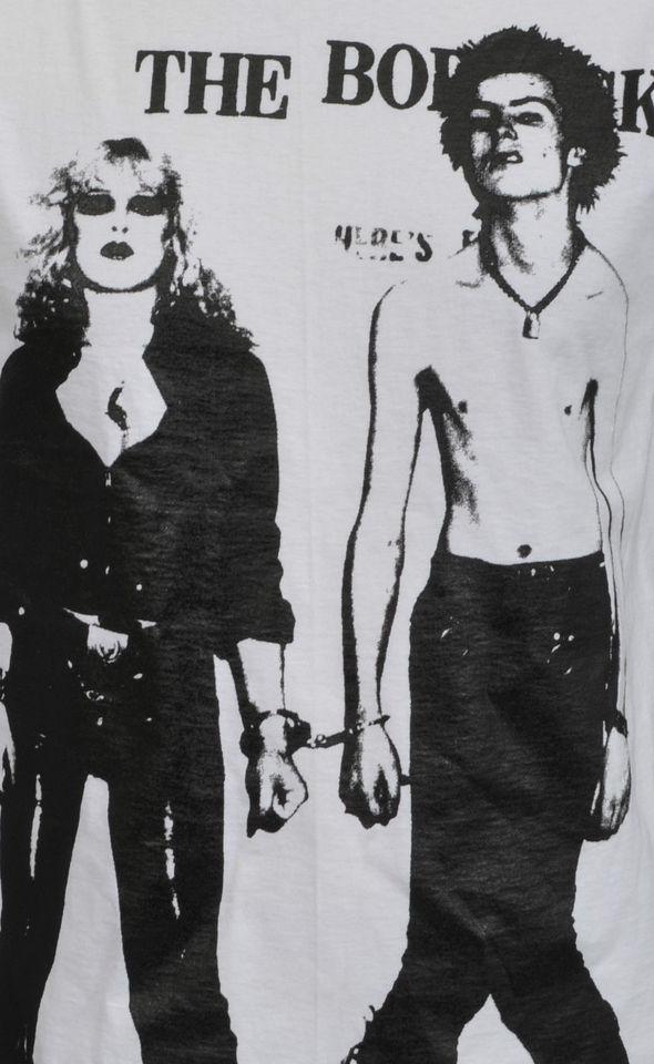 MENS WHITE T-SHIRT THE REAL SID /& NANCY ENGLISH LONDON PUNK ROCK 1977 PINK S-5XL
