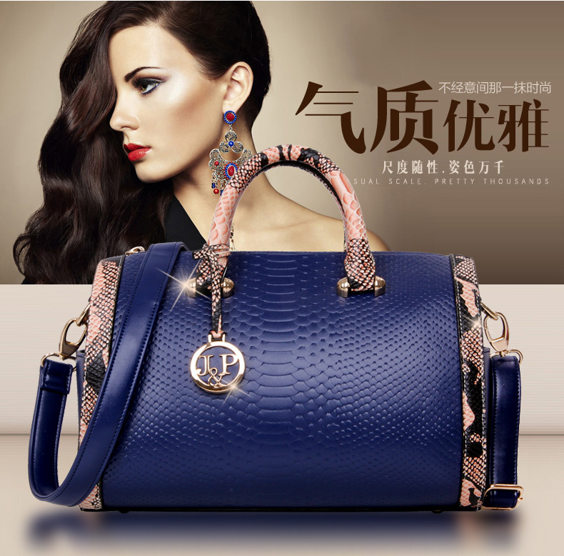 New Crocodile Pattern PU leather women handbags,Vintage Women's shoulder bag cross-body messenger bags