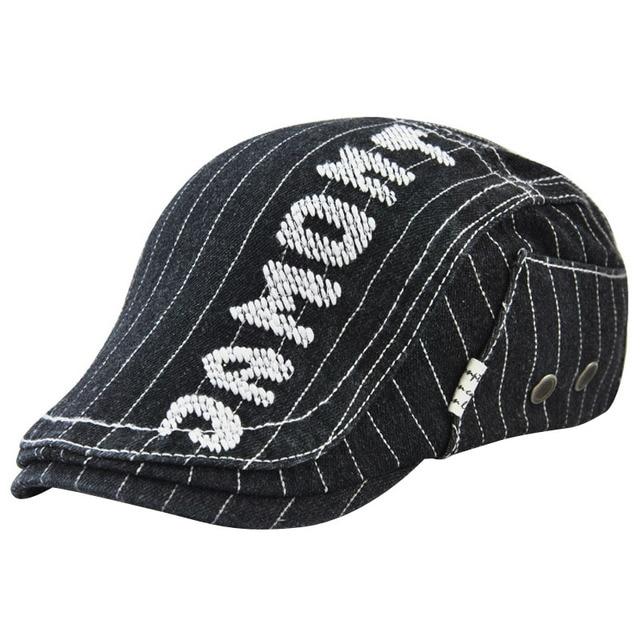 JAMONT 2018 Fashion Letter Berets Flat Cap For Men Adjustable Women s Hat  Summer Mens Beret Vintage Casual Cotton Visor Caps 4261746ff2d4
