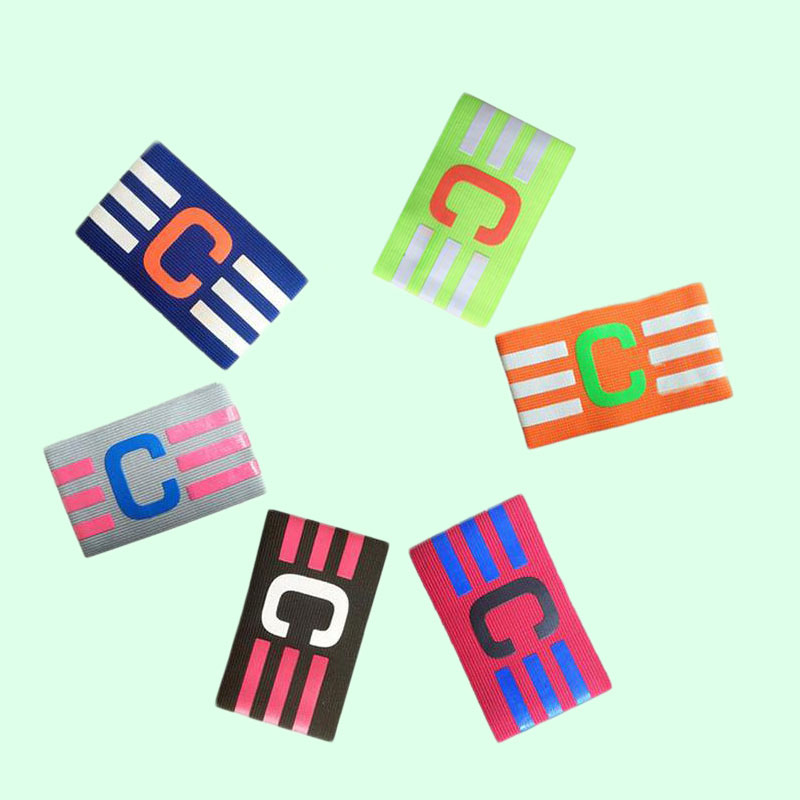 Football Captain Armband Soccer Skippers Armbands Elastic Hockey Rugby Sports Exercise Health Care Perfect Gift