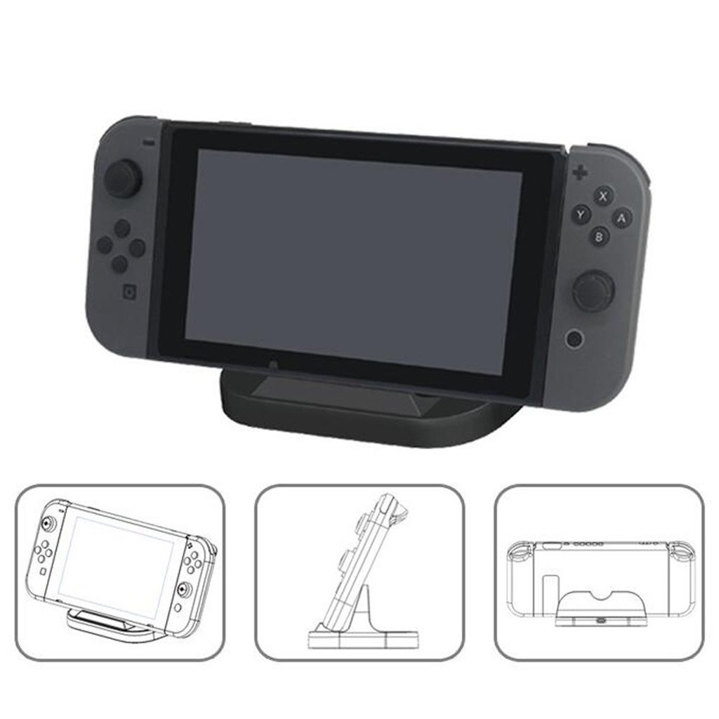 Charging Stand Unique Portable Type C Charging Charger Stand Cradles Dock For Nintend O Switch Holder Desktop Stands Playstand