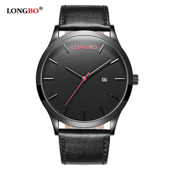 New Arrival Watches Leather Belt Date Calendar Men Waterproof