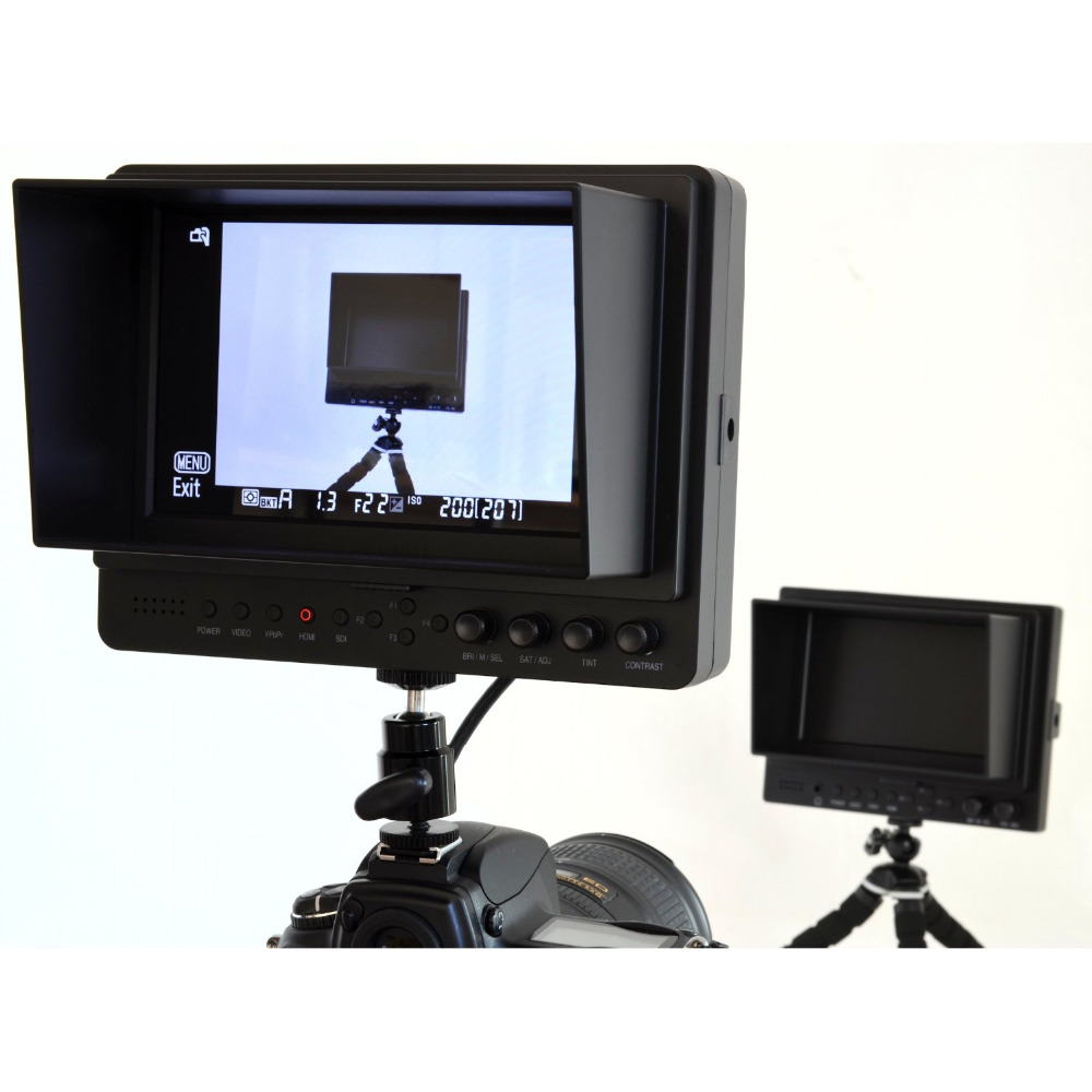 LILLIPUT 665 7 Inch On-camera HD LCD Field Monitor,Hdmi In & Component, 1/4 HOT Shoe Mount+2PC Battery Plate