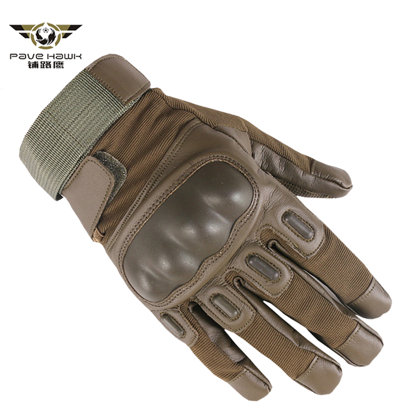 Men's SWAT Military Forces Army GYM Gloves Shell Knuckle Combat Fight Bicycle Gloves Full Finger PU Leather Tactical Gloves